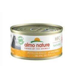 Pâtée pour chat Almo Nature HFC Natural - Lot de 6 x 70 g Blanc de poulet