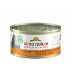 Pâtée pour chat Almo Nature HFC Natural - Lot de 6 x 70 g Poulet et Thon