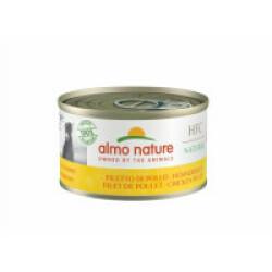 Pâtée pour chien Almo Nature HFC Natural - Lot de 6 boîtes x 95 g Filet de poulet