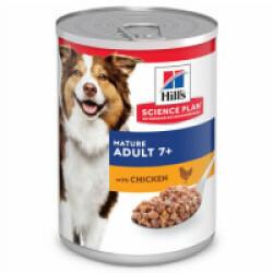 Pâtée pour chien senior vitalité et longévité Science Plan Mature Hill's - Lot de 12 Boîtes de 370 g