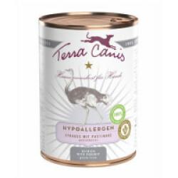 Pâtée sans céréales à l'autruche pour chien Terra Canis Hypoallergénique Boîte de 400 g