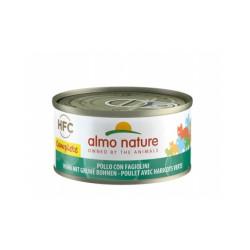 Pâtée sans céréales pour chat au poulet et haricots verts Almo Nature HFC Complete Boîte 70 g