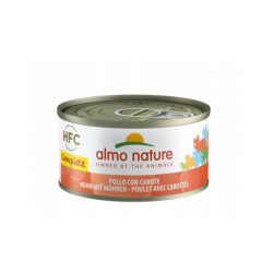 Pâtée sans céréales pour chat au poulet et carottes Almo Nature HFC Complete Boîte 70 g