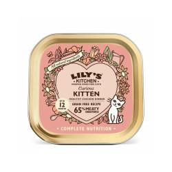 Pâtée sans céréales pour chaton au poulet Lily's Kitchen Barquette de 85 g
