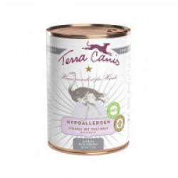 Pâtée sans céréales Terra Canis Hypoallergénique à l'autruche pour chien - Boîte de 400 g