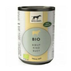 Pâtée William's Bio sans céréales pour chien - Saveur Boeuf (boîte de 200g)