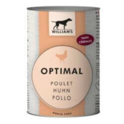 Pâtée William's Optimal sans céréales au poulet pour chien - Boîte de 200g