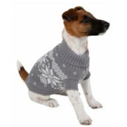 Pullover pour chien Lillehammer Gris Blanc Kerbl