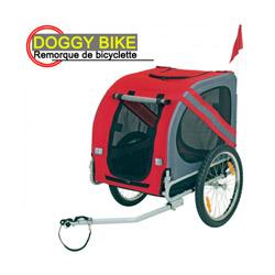 Remorque de vélo pour chien Doggy-Bike ™ Liner rouge / grise