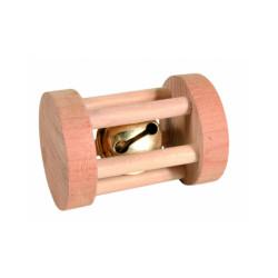 Rouleau à jouer en bois pour rongeurs