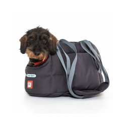 Sac de transport gris Doctor Bark pour chienTaille L 50 x 27 cm