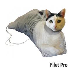 Sac filet de toilettage Pro renforcé et soin pour chat Small chat - de 3.6 kg