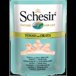 Sachet fraîcheur pour chat Schesir bouillon de cuisson - Pochon 70 g