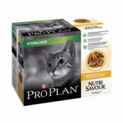 Sachets pour chats Stérilisé Pro Plan poulet 10 sachets 85 g