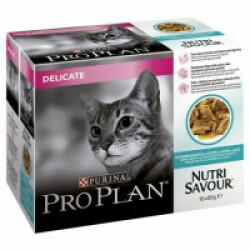 Sachets pour chats Pro Plan adulte Delicate poisson 10 sachets 85 g