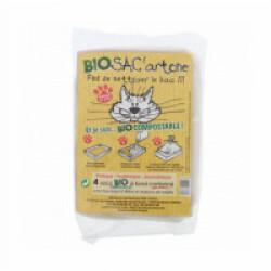 Sacs à litière bio-compostables avec fonds en carton Bio Sac'Artone - Lot de 4