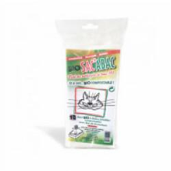 Sacs à litières avec lien de fermeture jetables compostables Bio Sac'Abac - Lot de 10
