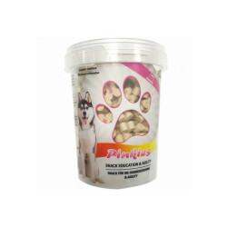 Seau de friandises Pinkies pour chien saveur saumon