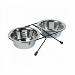 Set écuelles en acier inox avec pieds anti-dérapants Eat on Feet 2 pièces Contenance 0,2 litre Diamètre 10 cm