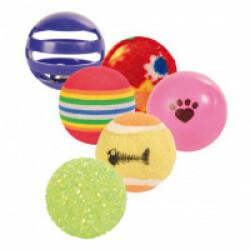Set de balles de jeu pour chats Trixie - Lot de 6