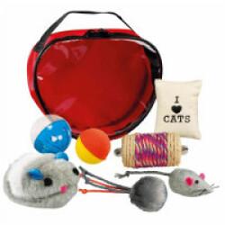 Set de jouets variés pour chats Trixie - Lot de 7 jeux
