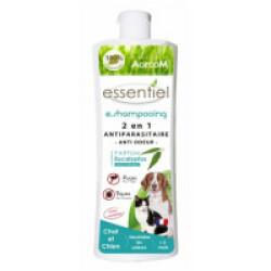 Shampoing antiparasitaire Essential 2 en 1 anti odeur pour chien et chat flacon 250 ml