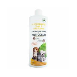 Shampoing antiparasitaire 2 en 1 pour chiot et chaton Agecom flacon de 250 ml