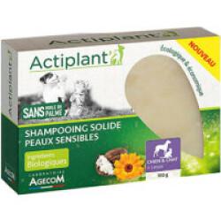 Shampooing solide Actiplant pour chien et chat - peaux sensibles