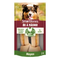SmartBones Medium os à mâcher au poulet pour chiens de taille moyenne - 2 pièces
