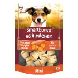 SmartBones os à mâcher à la patate douce pour petits chiens - 8 pièces