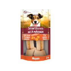 SmartBones os à mâcher à la patate douce pour chiens de taille moyenne - 2 pièces
