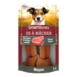 SmartBones os à mâcher au bœuf pour chiens de taille moyenne - 2 pièces
