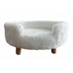 Sofa doux pour chat ou petit chien - Coloris Blanc
