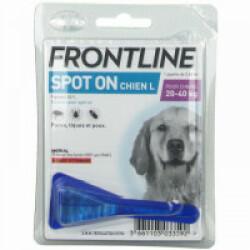 Soin antiparasitaire Frontline Spot On pour chiens de 20 à 40 kg Boîte 1 Pipette