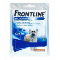 Soin antiparasitaire Frontline Spot On pour chiens de 10 à 20 kg Boîte 1 Pipette