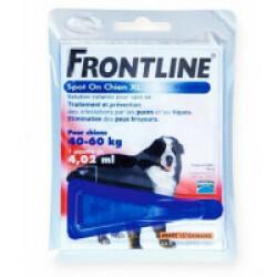 Soin antiparasitaire Frontline Spot On pour chiens de 40 à 60 kg Boîte 1 Pipette