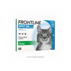 Soin antiparasitaire pour chats Spot On Frontline Boîte 6 Pipettes