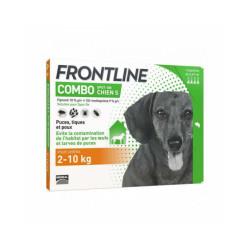 Soin antiparasitaire pour chien Combo Spot On Frontline 2/10 kg Boîte 6 Pipettes