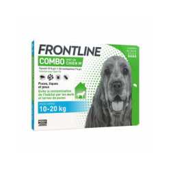 Soin antiparasitaire pour chien Combo Spot On Frontline 10/20 kg Boîte 6 Pipettes