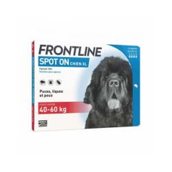 Soin antiparasitaire pour chiens Spot On Frontline 40/60 kg Boîte 6 Pipettes