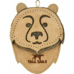 Tall Tails jouet naturel en cuir et laine pour chiot et petit chien - Ours