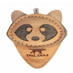 Tall Tails jouet naturel en cuir et laine pour chiot et petit chien - Raton laveur