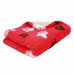 Tapis éleveur antidérapant Poly-Bed ® grip rose pattes noires et blanches (0.50 x 0.75 m)