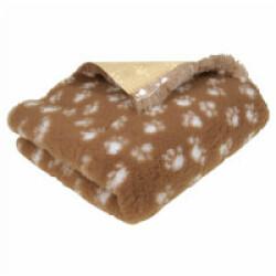Tapis éleveur antidérapant Poly-Bed ® grip marron pattes blanches (0.50 x 0.75 m)
