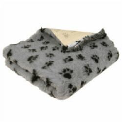 Tapis éleveur antidérapant Poly-Bed ® grip gris pattes noires (0.50 x 0.75 m)