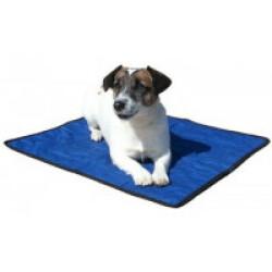 Tapis rafraîchissant bleu pour chien Aqua Coolkeeper 40 x 30 cm