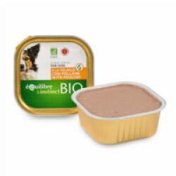 Terrine BIO Equilibre & Instinct pour chien adulte Saveur Volaille - 9 barquettes de 300 g
