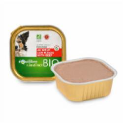 Terrine BIO Equilibre & Instinct pour chien adulte Saveur Boeuf - 9 barquettes de 300 g (DLUO courte)
