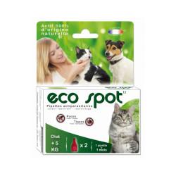 Traitement antiparasitaire pour grand chat Essential Eco Spot 2 pipettes de 1 ml