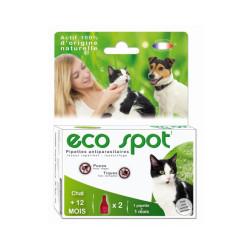 Traitement antiparasitaire pour chat Essential Eco Spot 2 pipettes de 0,6 ml